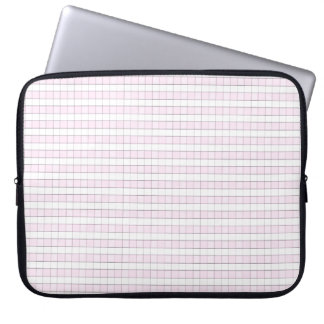 Pink & White Gingham Check Pattern Background Laptop Computer Sleeve