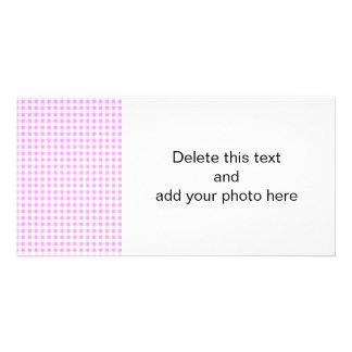 Pink White Gingham Pattern Card
