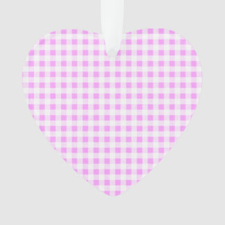 Pink White Gingham Pattern Ornament