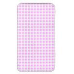 Pink White Gingham Pattern, Your Monogram