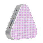 Pink White Gingham Pattern, Your Monogram Blueooth Speaker