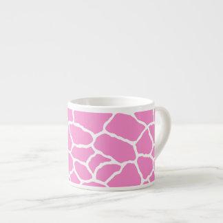 Pink White Giraffe Skin Pattern Espresso Mug