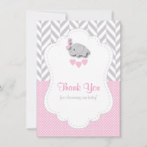 Pink, White Gray 🐘 Elephant Thank You