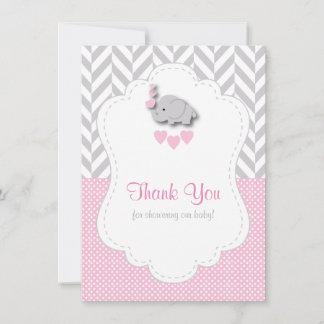 Pink, White Gray 🐘 Elephant Thank You
