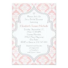 Pink, white, grey damask wedding bridal shower 5