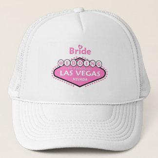 PINK/WHITE HEART BRIDE LAS VEGAS WEDDING CAP