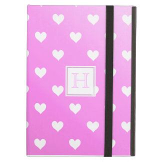 Pink & White Hearts :Powis iCase iPad Case