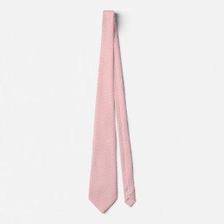 Pink & White Herringbone Modern Pattern Tie