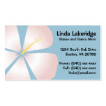 Pink / White Hibiscus Flowers Mommy Contact Card Business Card Templates