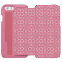 Pink/white Incipio Watson™ iPhone 6 Wallet Case