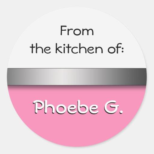 Pink White Kitchen Stickers