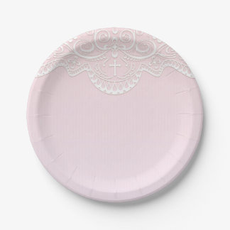 Pink White Lace Religious Paper Plate  sc 1 st  Zazzle & Pink Lace Gifts on Zazzle