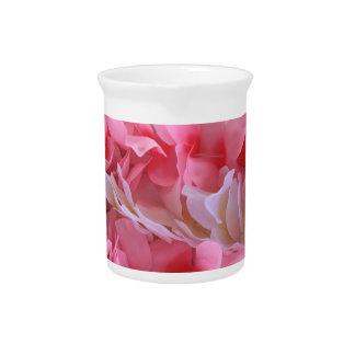 pink white lei beverage pitcher
