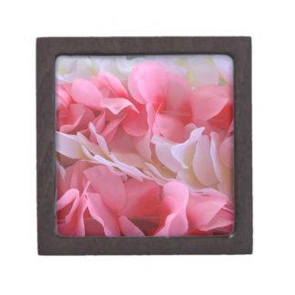 pink white lei gift box