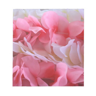 pink white lei notepads