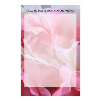pink white lei stationery
