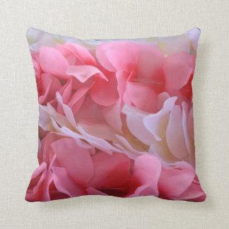pink white lei throw pillow