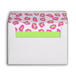 Pink, White & Lime Green Zebra & Cheetah Skin Envelope