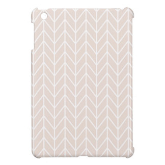 Pink White Line Pattern iPad Mini Cases