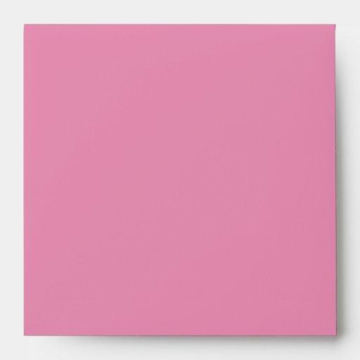 Pink White Linen Envelopes