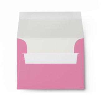 Pink White Linen RSVP Envelopes