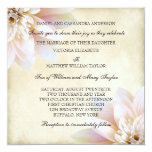 Pink White Lotus Flower Wedding Custom Invitation