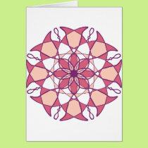 Pink & White Mandala Design Card