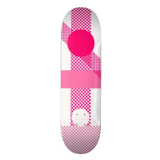 Pink & White Mix & Match Skateboard