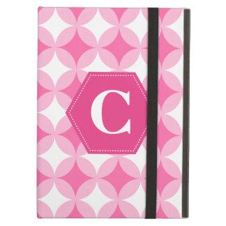 Pink White Monogram Pattern iPad Air Case