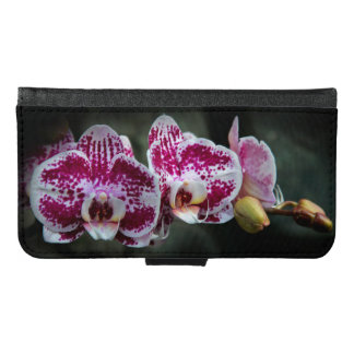 Pink White Moth Orchid Wallet Phone Case For Samsung Galaxy S6