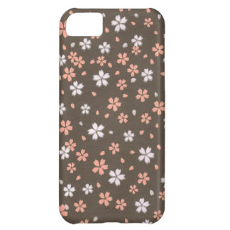 Pink White Origami Flowers Cover For iPhone 5C