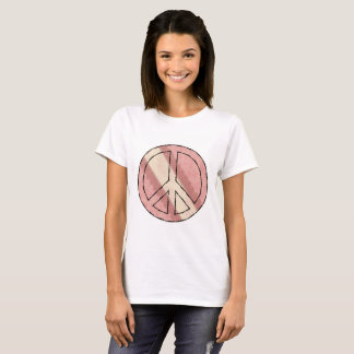 Pink & White Peace Sign T-shirt