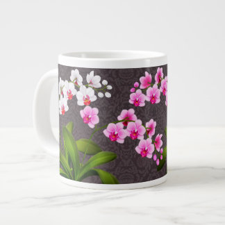 Pink White Phalaenopsis Orchids Jumbo Mug