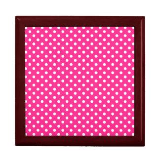 Pink & White Polka Dot Jewelry Box