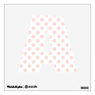 Pink & White Polka Dot Letter A Wall Decal