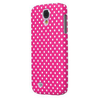 Pink & White Polka Dot Samsung S4 Case