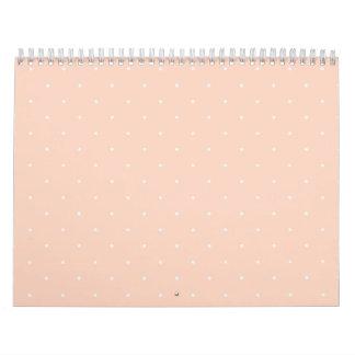 Pink & White Polka Dots Wall Calendars