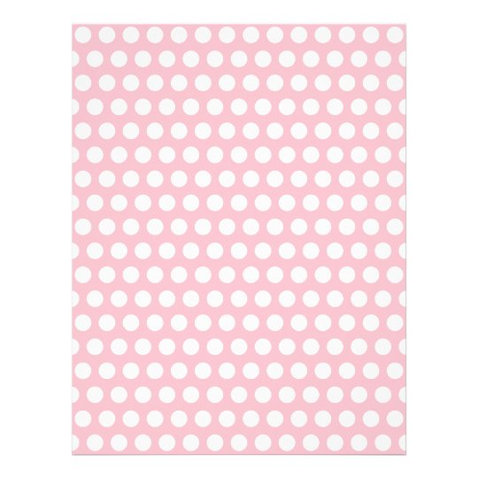 Pink & White Polka Dots Letterhead