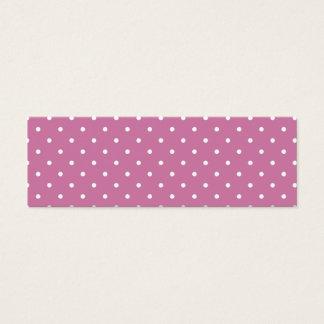 Pink White Polka Dots Mini Business Card