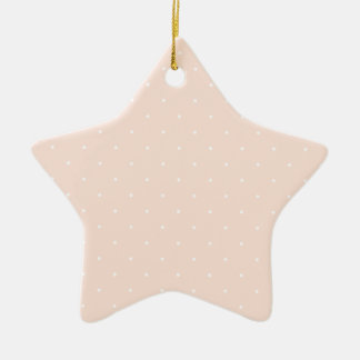 Pink & White Polka Dots Christmas Ornament