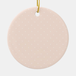 Pink & White Polka Dots Christmas Tree Ornament