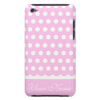 Pink White Polka Dots Pattern iPod Touch Case