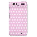 Pink White Polka Dots Pattern Motorola Droid RAZR Covers