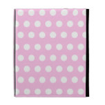Pink White Polka Dots Pattern iPad Cases