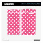 Pink white polka dots samsung captivate skin