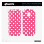 Pink white polka dots samsung continuum skins