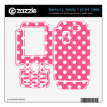 Pink white polka dots samsung gravity 2 skins