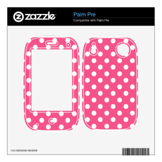 Pink white polka dots skin for the palm pre