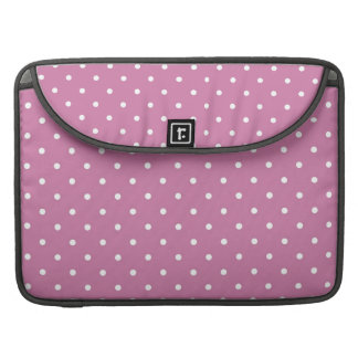 Pink White Polka Dots Sleeve For MacBook Pro