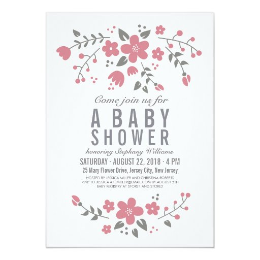 Baby Shower Invitations For Girls with amazing invitation layout
